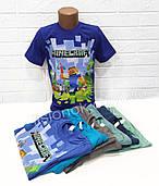 Футболка Майнкрафт Стив, 122-146см, для стильных и увлеченных игрой Minecraft детей