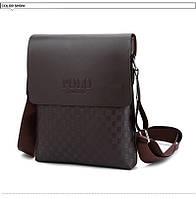 Мужская сумка через плечо Polo  Videng Parish коричневая, фото 1