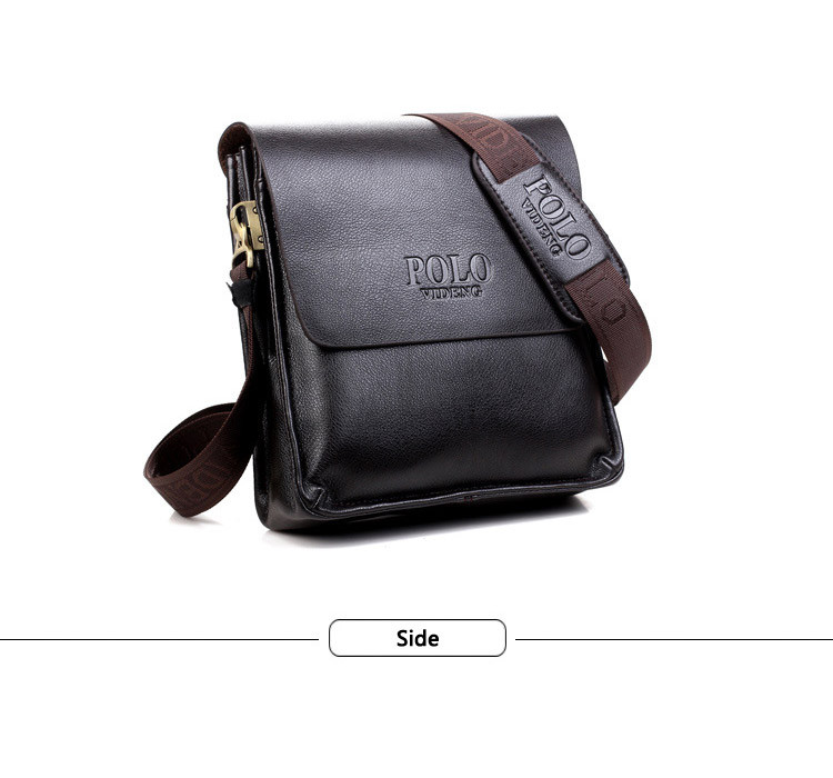 Мужская сумка Polo VIDENG  коричневая