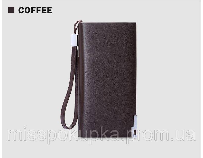 Чоловічий шкіряний гаманець Baellerry Classic коричневий