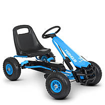 Детская педальная машина веломобиль Карт M 4555-4 надувные колеса