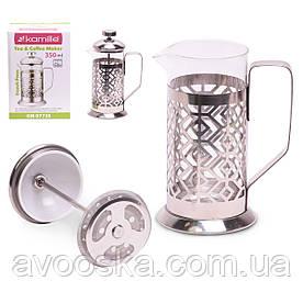Заварник френчпресс для чая и кофе 350мл Kamille KM-0773S