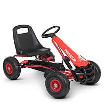 Дитяча педальная машина веломобіль Карт M 4555-3 надувні колеса