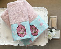 Полотенце махровое Barine - Little Romance розовое 30*50