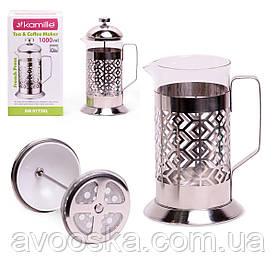 Заварник френчпресс для чая и кофе 1л Kamille KM-0773XL