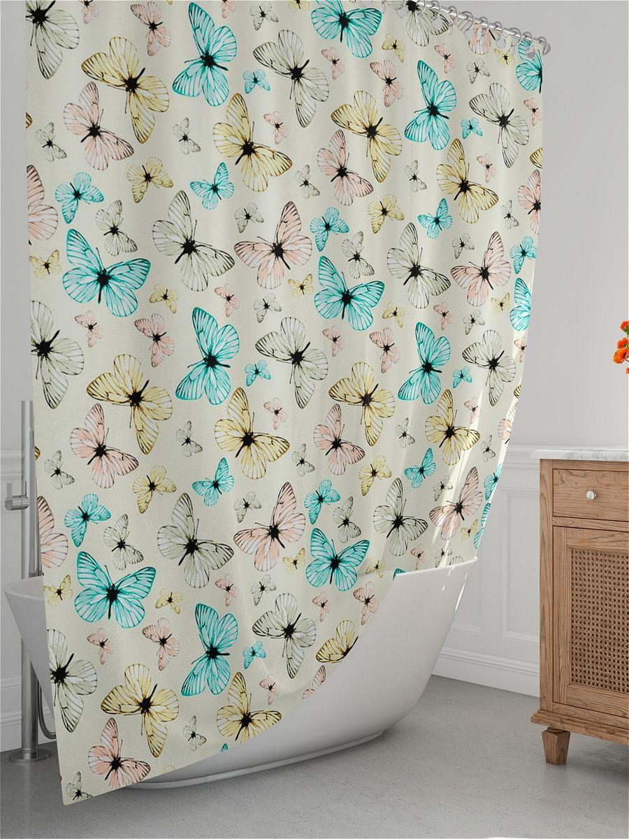 Шторка для ванної з кільцями Miranda HAVANA бежева (Туреччина) 180х200 см