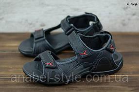 Чоловічі спортивні сандалі з натуральної шкіри