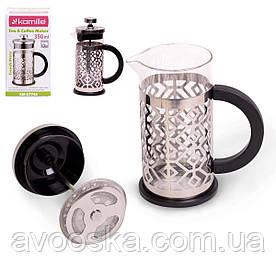 Заварник френчпресс для чая и кофе 350мл Kamille KM-0774S