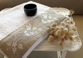 Полотенце махровое Barine - Petite белое 50*90