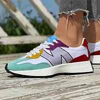 Женские кроссовки New Balance 327 Multicolor | Нью Беланс 327 Разноцветные