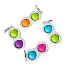 Лучшая игрушка антистресс Симпл Димпл, пупырка, сенсорная игрушка антистресс, Simple Dimple, двойной, брелок