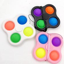 Лучшая игрушка антистресс Симпл Димпл спиннер, пупырка, сенсорная игрушка, Simple Dimple, четверной