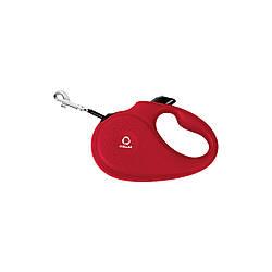 Поводок-рулетка COLLAR для собак до 25 кг, розмір M, 5 метрів, Чорний червоний