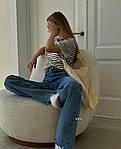 Женская футболка, турецкая вискоза, р-р универсальный 42-46 (полоска), фото 3