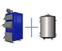 Пакетное предложение: твердотопливный котел НЕУС-В 31 кВт и теплоемкость Termico 250 л. без изоляции