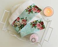 Полотенце махровое Barine - Vintage Rose белое 50*90