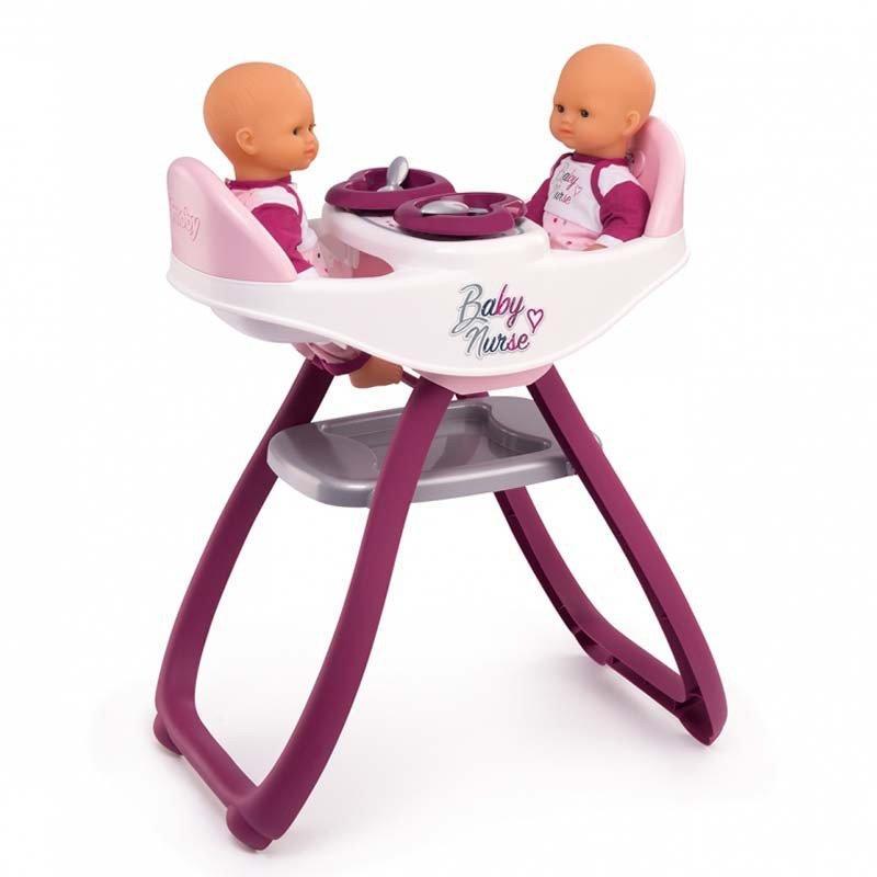 Стільчик для годування ляльки Smoby Baby Nurse Twin High Chair 2+ (220344)