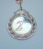 Медаль MD 43 silver с лентой