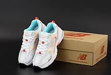 Женские кроссовки в стиле New Balance 530   White Orange Blue, фото 3