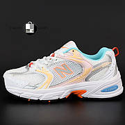 Женские кроссовки в стиле New Balance 530 | White Orange Blue