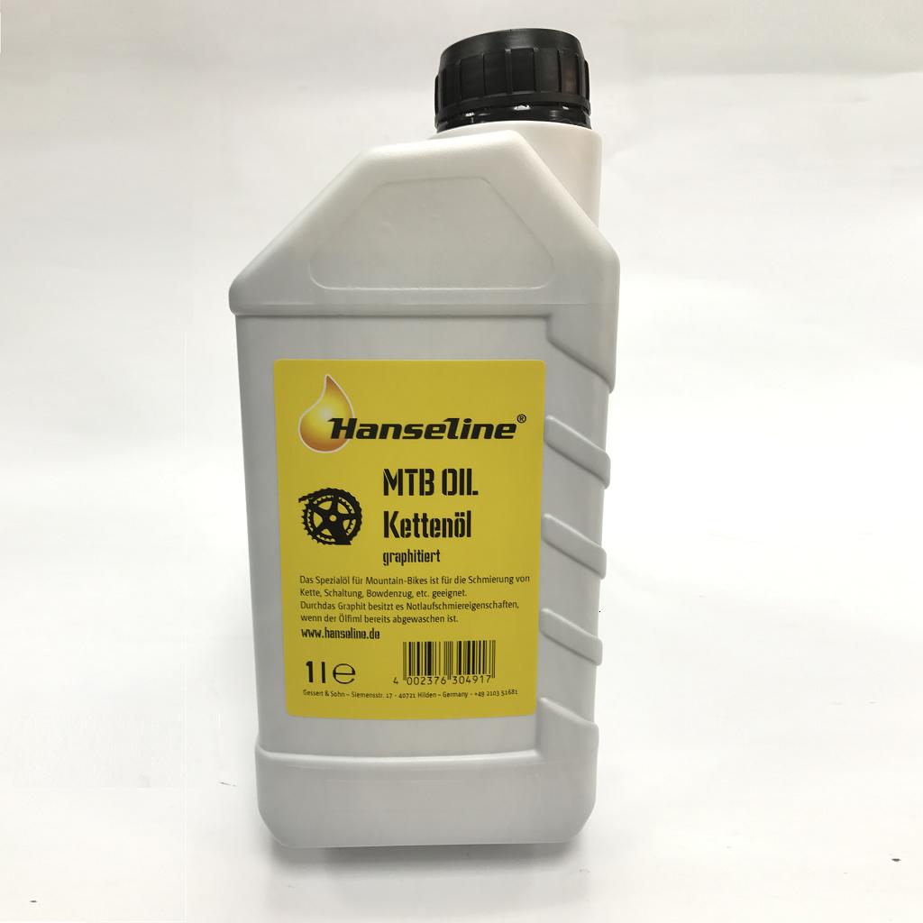 Мастило для ланцюга Hanseline MTB-Oil, 1л (графитная)