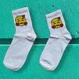 Шкарпетки смайли з сердем розмір 36-42, фото 2