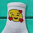 Шкарпетки смайли з сердем розмір 36-42, фото 4