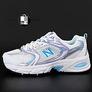 Женские кроссовки в стиле New Balance 530 | White Blue