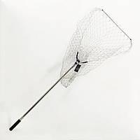 Подсак BREEZE треугольный 70см, кордовая сетка, круглая метал телескоп ручка