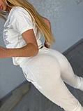 Жіночий літній костюм з трикотажу (Туреччина); розміри:З,М,Л,ХЛ повномірні кольори:червоний,чорний,білий., фото 3