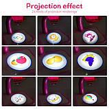 Дитячий проектор для малювання зі слайдами Projector Painting проектор для дітей зі столиком Рожевий, фото 7
