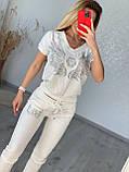 Женский летний костюм из трикотажа (Турция);  размеры:С,М,Л,ХЛ полномерные цвета:красный,черный,белый., фото 2