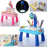 Дитячий проектор для малювання зі слайдами Projector Painting проектор для дітей зі столиком Рожевий, фото 4