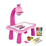 Дитячий проектор для малювання зі слайдами Projector Painting проектор для дітей зі столиком Рожевий, фото 2