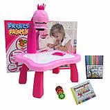 Дитячий проектор для малювання зі слайдами Projector Painting проектор для дітей зі столиком Рожевий, фото 5
