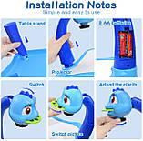 Дитячий проектор для малювання зі слайдами Projector Painting проектор для дітей зі столиком Синій, фото 9