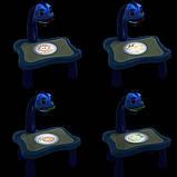Дитячий проектор для малювання зі слайдами Projector Painting проектор для дітей зі столиком Синій, фото 10