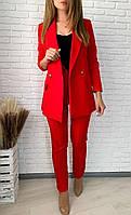 Женский классический деловой брючный костюм пиджак +брюки.Новое поступление весна лето LUXX MODEL,КАЧЕСТВО