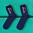 Носки с принтом высокие синие 36-40 размер, фото 2