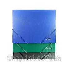 Папка на резинках А4, покрытие бриллиант / Economix (плотная)