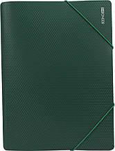 Папка на резинках А4, покрытие бриллиант / Economix (плотная) Зеленый