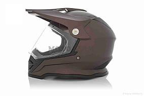 Шлем кроссовый  VLAND  #819-7 +визор, L, Bronze mat