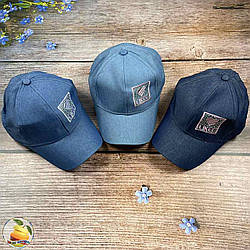 Джинсова кепка для дівчинки (обсяг 54 см) (01892)