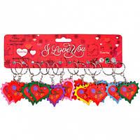 От 24 шт. Брелок резиновый 2-97 Сердце с лучиками купить оптом в интернет магазине От 24 шт.