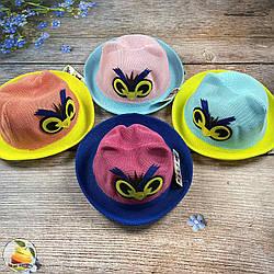 Дитячий капелюх з вушками на літо (обсяг 52 - 54 см) (01895)