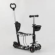 Самокат-беговел 5в1 Best Scooter з батьківською ручкою, що світяться колеса 24501