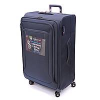 Легка текстильна валіза на 4-х колесах Airtex синя, фото 1