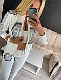 Жіночий літній костюм з трикотажу (Туреччина); розміри:З,М,Л,ХЛ повномірні Кольори: чорний,білий,червоний, фото 5