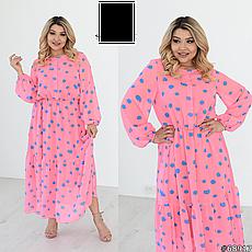 Сукня жіноча шифонова легке повітряне розміри: 50-60, фото 2