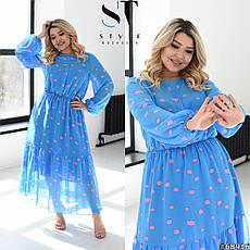 Сукня жіноча шифонова легке повітряне розміри: 50-60, фото 3